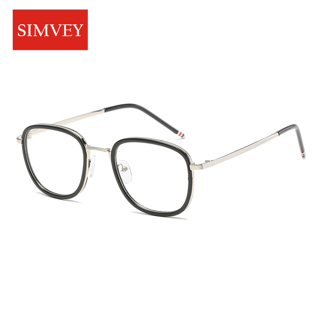 d2926d3b55 Simvey 2017 Fashion Korean Glasses Frames Women Mens Retro Vintage Fake Glasses  Frames Clear Lens TR90 Unbroken High Quality