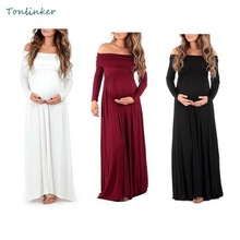 Maternity Long Dresses New Pure Color Maternity Photography Props Off Shoulders Long Slevee Pregnant Trailing Long Dress smdppwdbb maternity dress maternity photography props long sleeve maternity gown dress mermaid style baby shower dress plus size