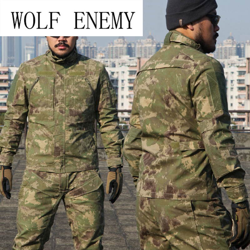 Mew Camouflage Suit Sets Army Military Uniform Combat Jacket Pants Tactical   Outdoors Training Camping Sports Sets man cs training outdoor camouflage uniform combat bdu suit tactical army jacket hunting multi pocket trouser wear resisting s20n