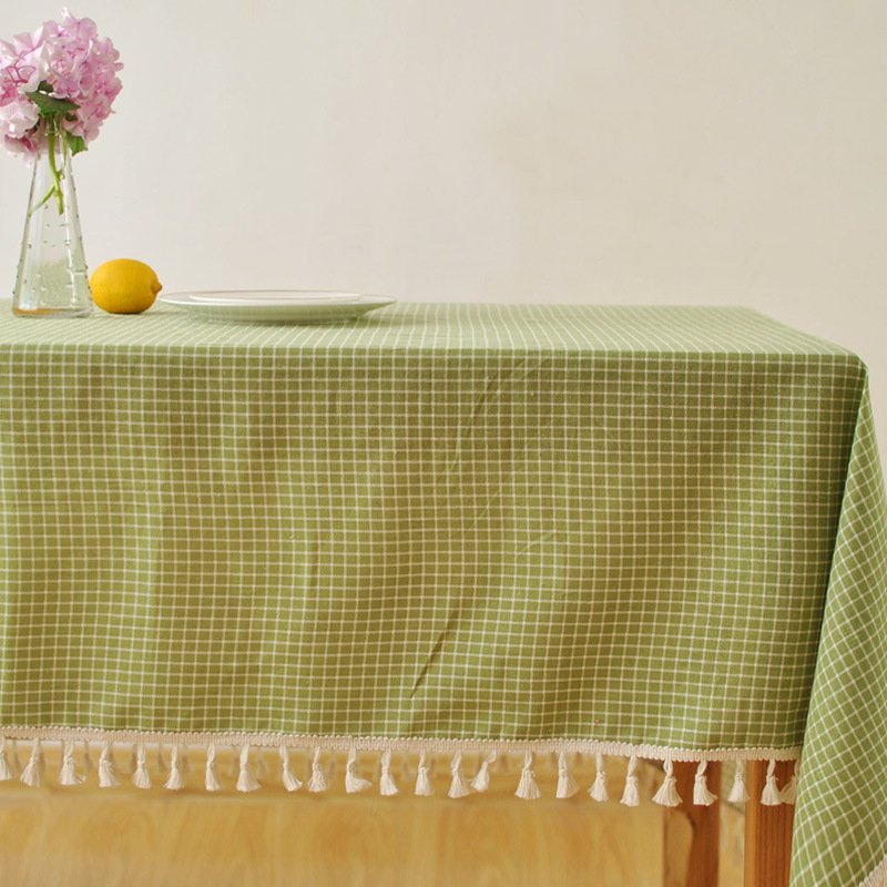 Aliexpress.com : Buy Table Cloths For Cloth Christmas Round Fabric Clothes  Cotton Green Color Lattice Tablecloth Home Wedding Decoration Tables Cover  From ...