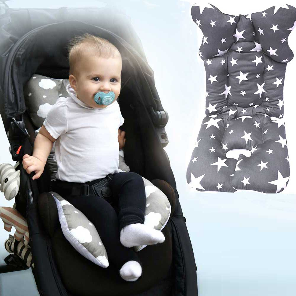 Baby Stroller Seat Cushion Mat Pushchair Pram Cushion Car Auto Seat Pillow Cove Breathable Cotton Seat Baby Stroller Accessories