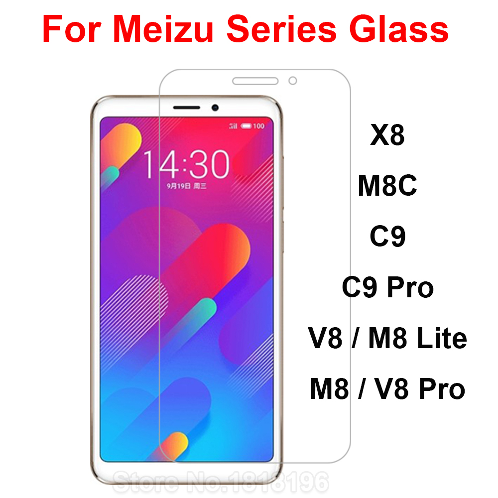 Tempered Glass For Meizu X8 V8 M8 C9 Pro Screen Protector 9H Safety Protective Mobile Phone Film On M8C V 8 C 9 C9Pro Case Glass
