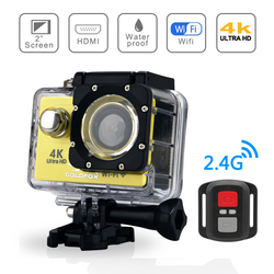 New H9R Action Camera 4K 25FPS WIFI 2.0 LCD Screen Mini Helmet Waterproof Sports DV Camera with Remote Control Video Recording