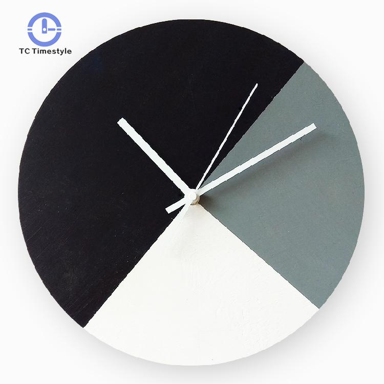 Nordic Color Log Wall Clock Minimalist Living Room Modern Design Wall Clocks Creative Bedroom Round Mute Scan Hanging Watches