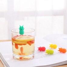 10 шт силиконовый красный маркер на стакан для вина креативный ананас маркер Шарм Стекло идентификация идеально подходит для вечеринок(случайный цвет