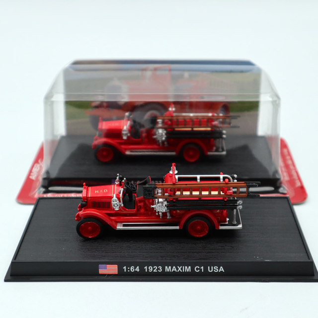 Amercom 1:64 1923 Maxim C1 USA Fire Engine Diecast Models Toys Car Limited Edition Collection Red