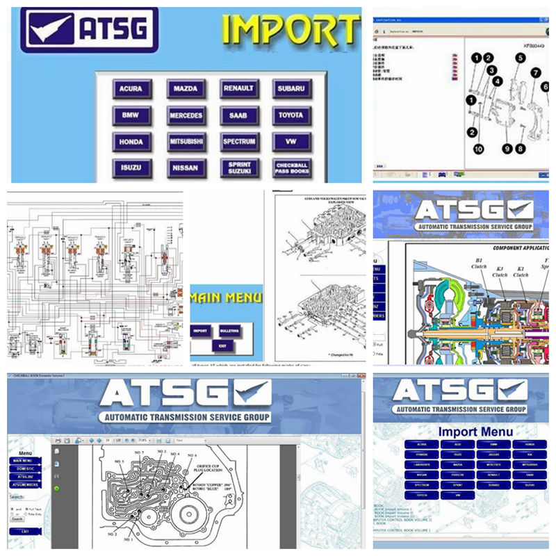 2019 Mais Novo Auto Diagnóstico Software ATSG manuais de reparação de transmissão atsg software de reparação automóvel em 80 gb hdd usb3.0 disco rígido CD