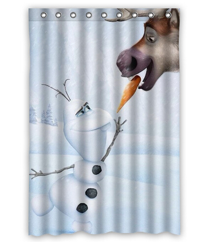 New Hot Sale Custom Olaf With Deer Fashion Home Living Waterproof Bathroom Decor Shower Curtain 150x180cm FREE SHIPPING U07 70 In Curtains From