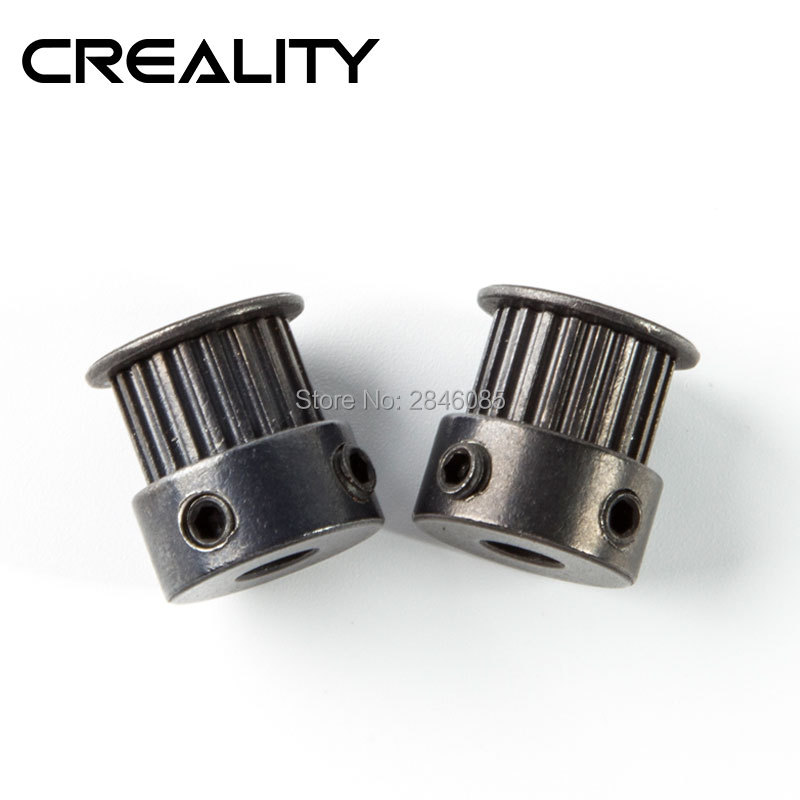 CREALITY 3D Printer Accessories Synchronizing Wheel Timing Pulley GT2 20 Teeth Support Timing Belt GT2 For Ender-3 Ender-3 Pro