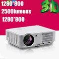 Caliente venta! 2500 lumens LCD LED Digital HDMI de vídeo de verano Cenima 1080 P PC VGA HD de la lámpara del proyector de cine en casa 3D USB TV Tuner