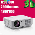 Hot sale! 2500lumens LCD LED Digital HDMI Video Daylight Cenima 1080P PC VGA Lamp HD Home Theater Projector 3D USB TV Tuner