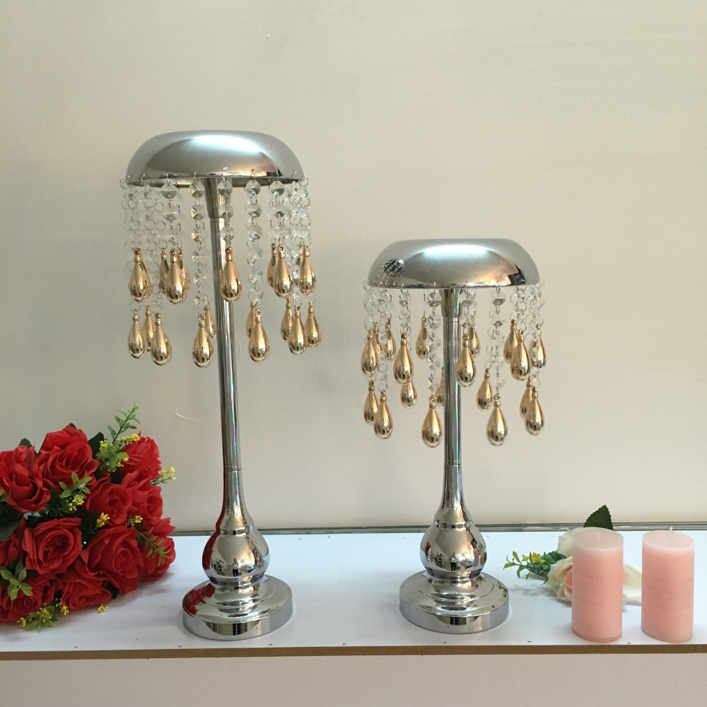Metal Candle Holder Crystals Wedding Table Candelabra/ Centerpiece ...