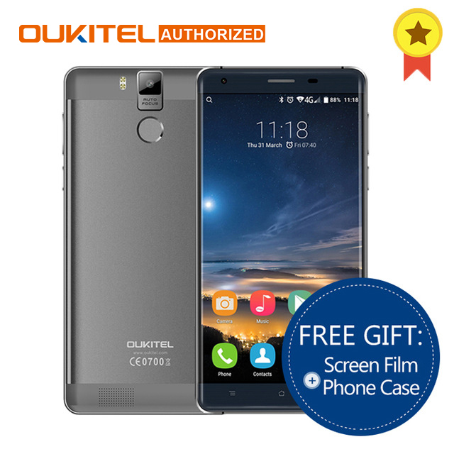 Оригинальный Oukitel K6000 Pro 4 г смартфон MTK6753 Octa Core Android 6.0 3 ГБ Оперативная память 32 ГБ Встроенная память 5.5'' Экран 13.0MP 6000 мАч мобильного телефона