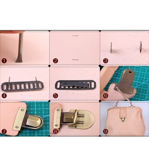 أحدث معدن المشبك بدوره قفل تويست قفل ل DIY حقيبة يد حقيبة محفظة الأجهزة إغلاق