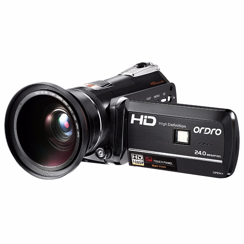Ordro Video Camera Night Vision Camcorder Wifi Full HD 1080P 30fps with Super Wide Angle Lens HDMI (HDV-D395)