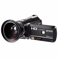 Ordro Video Camera Night Vision Camcorder Wifi Full HD 1080P 30fps with Super Wide Angle Lens HDMI (HDV D395)