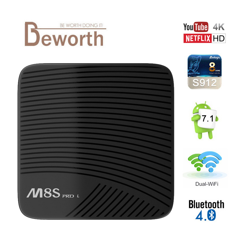 MECOOL M8S PRO L Android 7 1 Amlogic S912 TV BOX YouTube 4K Streaming 3GB 32GB