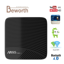 MECOOL M8S PRO L Android 7.1 Amlogic S912 TV BOX YouTube 4 K Streaming 3 GB/32 GB KODI 17.3 4 K Netflix HD WIFI Bluetooth LAN HDMI