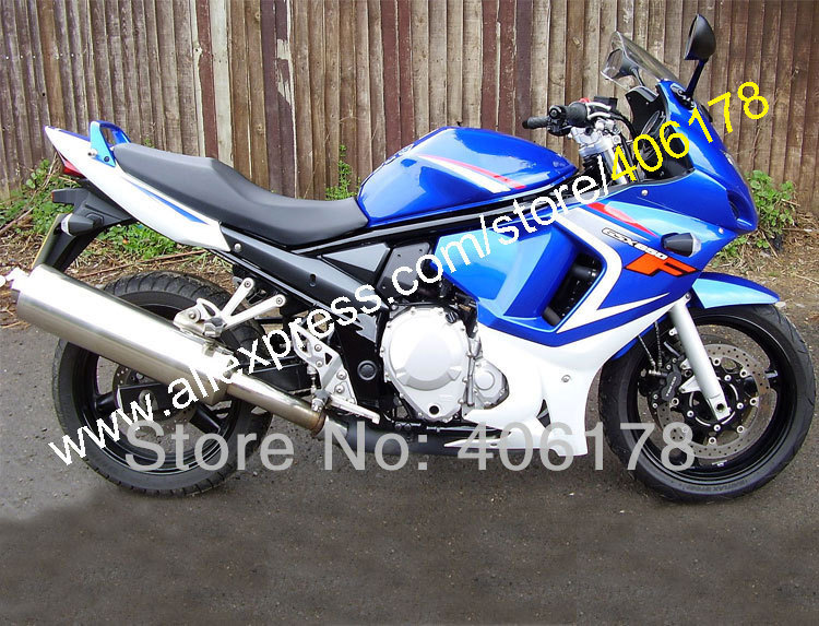 Azul branco para SUZUKI GSX650F GSX650 F GSX 650F GSXF650 GSXF 650 2008 2009 2010 08 13 moto carenagem