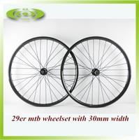 Заводская распродажа 32 H/32 х 30 мм Ширина 29er MTB колеса Труба из углеродистого волокна 3 K глянцевый обода колес для горных велосипедов с втулка