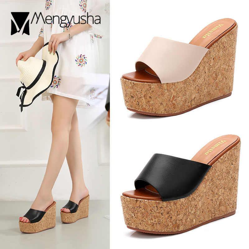 Tacones súper altos cuñas zapatos de verano Mujer sandalias