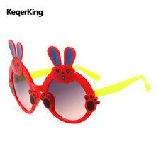 f1e0f307a58 Rabbit Sun Glasses Kids Sunglasses Cute Cartoon Vintage Children Glasses  Girls Boys Eyeglasses Travel Party Gafas Oculos De Sol