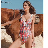 2018 Sexy One Piece Swimsuit Women Swimwear Push Up Monokini Padded Swim Suit Bandage Bodysuit Bathing Suit Summer Beachwear 2