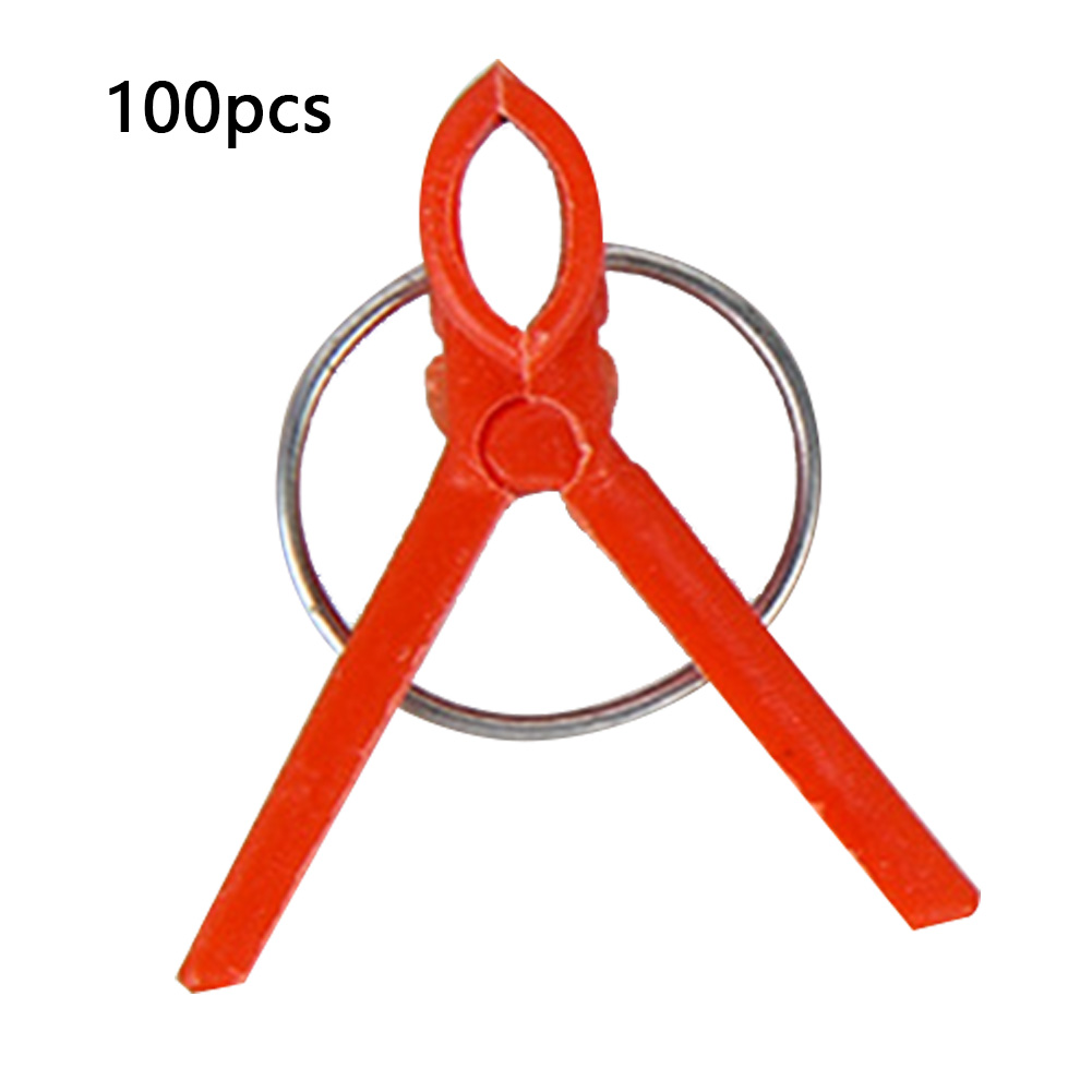 100Pcs/Pack Vine Tomato Tools Protective Durable Reusable Seedlings Support Flat And Round Garden Vegetable Bushes Grafting Clip