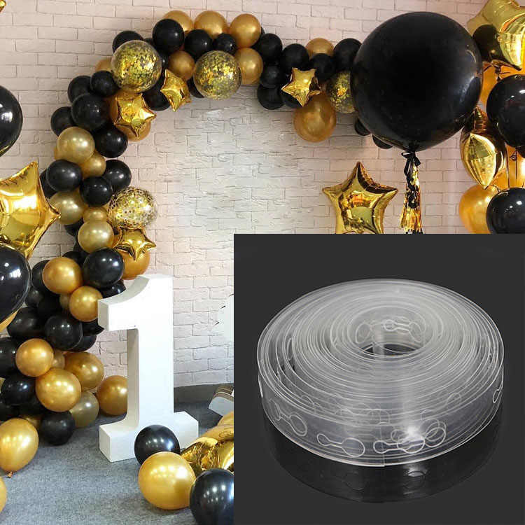 DIY 5M/Roll Latex Balloons Modeling Tool Plastic Balloon Chain Wedding Birthday Balloons Backdrop Decor Accessories Seal