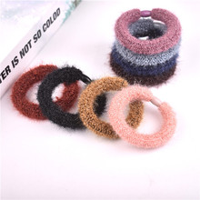 1pc Women Jewelry  Cute Plush Girls Elastic Hair Rubber Band Accessories for Girls Kids Hair Rope Ring Headdress Headwear цена в Москве и Питере