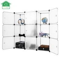 PRWMAN New Multi Use DIY Magic Piece Of Resin Organizer Wardrobe Closet Bookcase Storage Cabinet With