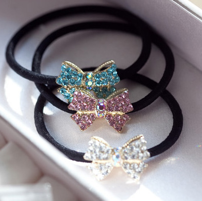 tire Small diamond bow hair bands rope free home delivery