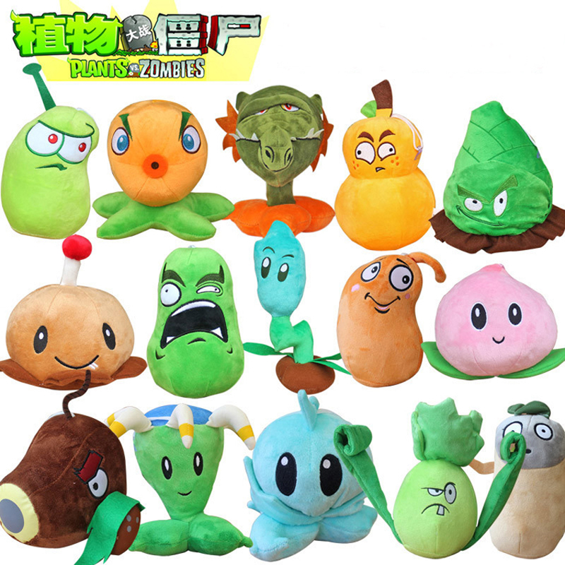 16 Styles Plants vs Zombies 2 Stuffed Plush Toys Doll 13-20cm Plants vs Zombies PVZ Plants Plush Soft Toy for Kids Children Gift 1pcs 13 20cm 8 styles plants vs zombies plush toys soft stuffed plush toys for kids gifts baby birthday party toys doll