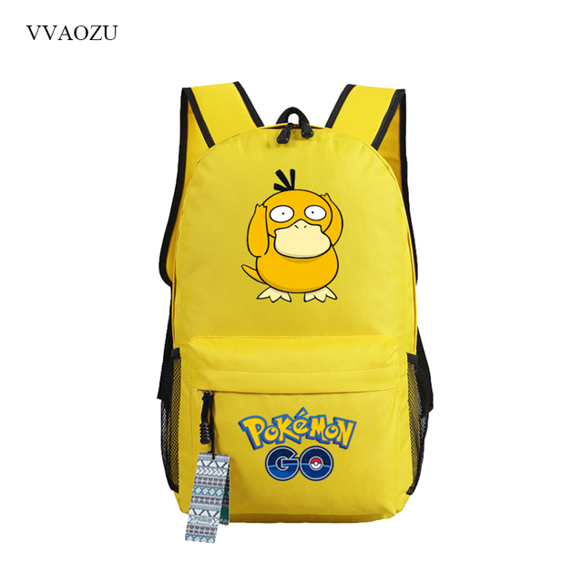 e0e21dab3b Pokemon Go Psyduck Backpack Fashion Pocket Monster Shoulder Bag Laptop  Backpack Schoolbags for Teenager Girls Boys