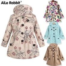 European Autumn Kids Jackets Girls Fashion Manteau Enfant Fille Cute Dot Casaco Menina Spring Coats And