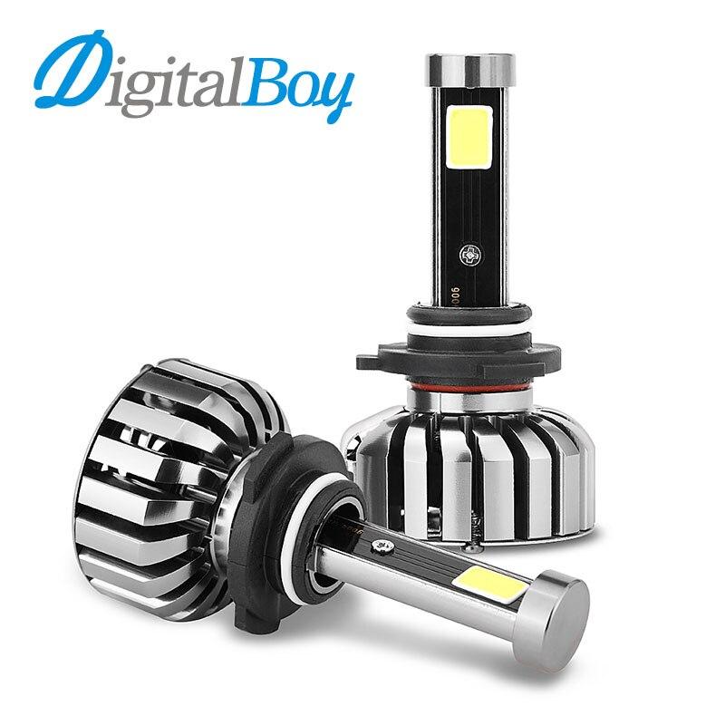 DIGITALBOY Car LED Headlight 9006/HB4 LED Conversion Kit 80W 8000LM 9006 LED Bulbs 6000k Single Beam Headlamp Front Fog Lights h1 h4 h7 h8 h9 h11 9005 9006 hb3 hb4 9012 hir2 car led headlight bulbs to replace automobile halogen headlamp fog conversion kit