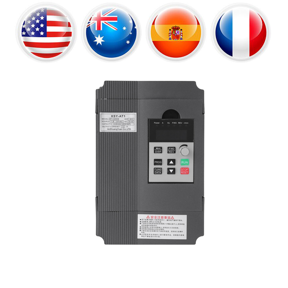 цена на 220V AC Variable Frequency Drive Inventer Single Phase VFD Speed Controller Variable Speed Drive for 3-phase Motor Speed Control