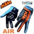 2016 Verano KTM Equipo GOPRO Edición AIRE MX motocross racing guantes AM DH Downhill guantes Hechos de fibras Elásticas