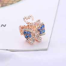 For Womens girl hairpin diamond hair accessories Hollow out alloy crystal butterfly small crab claw clips headdress
