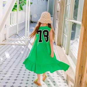 Image 4 - العلامة التجارية الفتيات فستان أطفال فستان الشمس 2020 طفل فستان صيفي القطن ماكسي طويل الأطفال الترفيه فستان طفل عادي مطاطا ، #5267