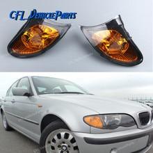 Пара передний левый+ правая Янтарный желтая парка сигнала угол света 63137165859 63137165860 для BMW E46 3-ей серии 4 Двери Седан 2002-2005