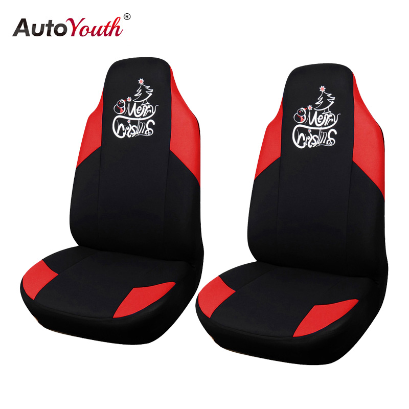 AUTOYOUTH New Christmas Printing Car Seat Cover Universal Fit Most Vehicles Seats Interior