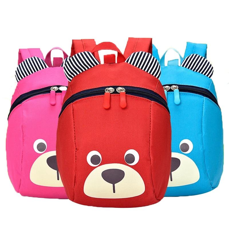 Super Cute Bear Toddler Anti Lost Backpack Harness Leash Bag Walking Baby Leashes Bag Toddler Walker Safety Harness Bag