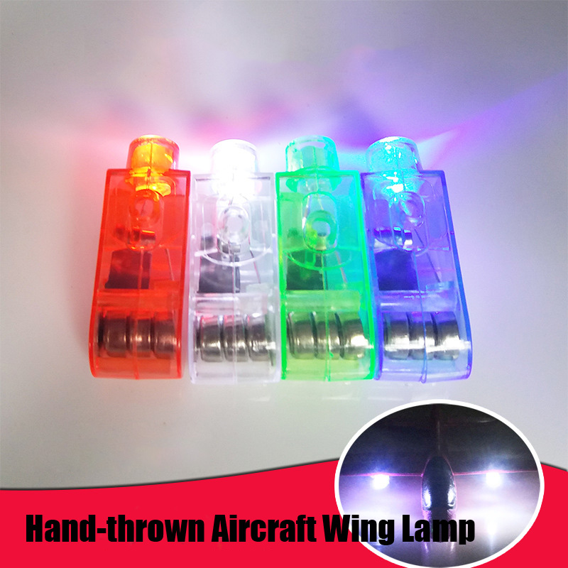 New DIY Kids Toys Hand-thrown Aircraft Wing Lamp Foam Aeroplane Model Party Bag Fillers Flying Glider Plane Toys For Kids Game image