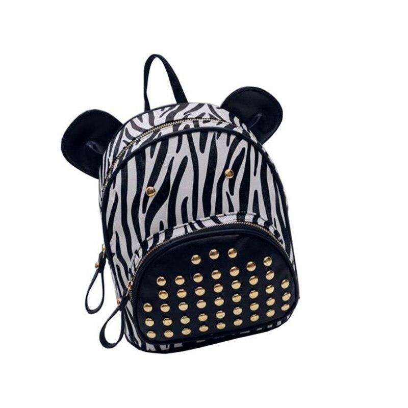 Girls Zebra Backpack   Os Backpacks