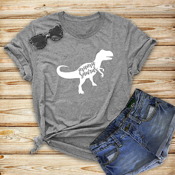 003bdaf5b MamaSaurus mama Saurus dinosaur T-Shirt Women Funny Graphic tshirt Summer  style outfits Tops t shirt Drop Ship
