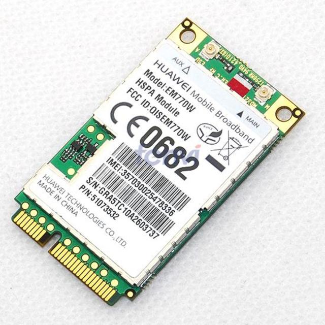 Desbloqueado huawei em770w módulo 7.2 mbps inalámbrica 3g wwan hsdpa hsupa gsm gprs edge módem inalámbrico 3g pci-e tarjeta