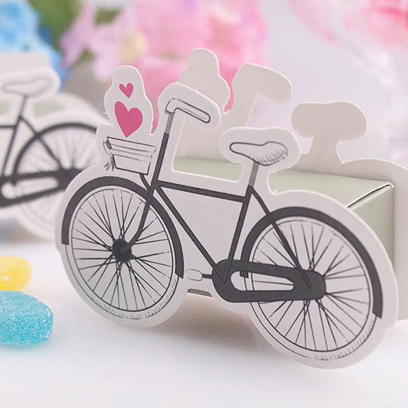 500PCS Bicycle Candy Box Cartoon DIY Gift Creative Manual Boxes Paper Party Wedding Children Birthday Gifts Packing ZA1390