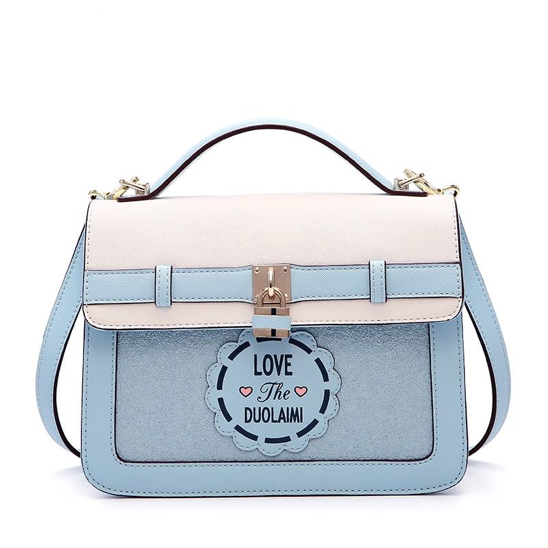 Femmes sac à main sacs 2018 mode nouveau Messenger sac imprimer blanc femmes sac casual top qualité sac livraison gratuite-in Sacs à poignées supérieures from Baggages et sacs    1