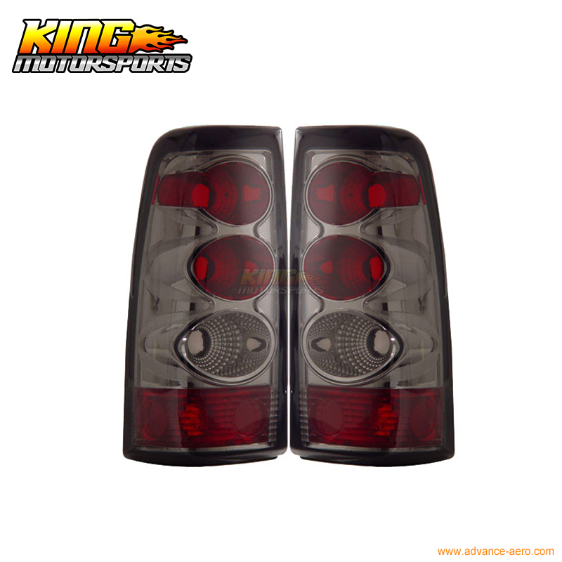 for 2005 2007 06 chrysler 300 300c led tail lights black lamps usa domestic free shipping For 2003-2006 Chevy Silverado Tail Lights Smoke Lamps 04 05 USA Domestic Free Shipping